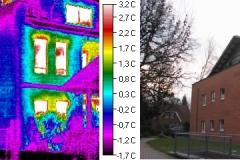 Durchfeuchtung  Fassade und Wohnungen aus Staffegeschossfläche