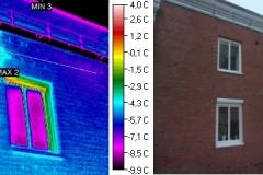 Durchfeuchtung Fensterstürze und Fassade durch defekte Attikaabdeckung