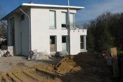 Pultdachhaus Bau